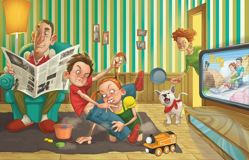 которые стали смешные открытки большая семья на юге синдром