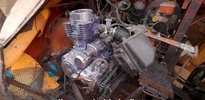 Находчивый подросток из Ганы построил настоящий рабочий автомобиль из металлолома автосамоделки,сделай сам