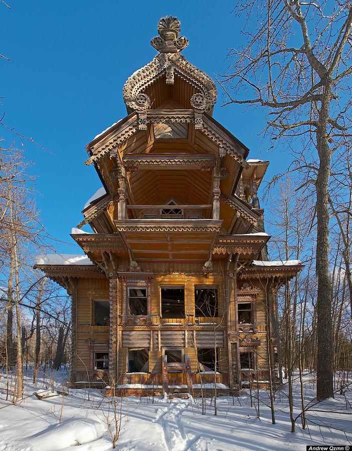 9. Деревянный терем в России. в мире, дом