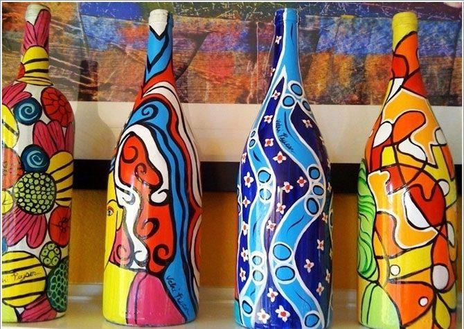 Нарядная жизнь старых бутылок
