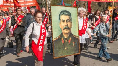 Плакаты со Сталиным появилис…