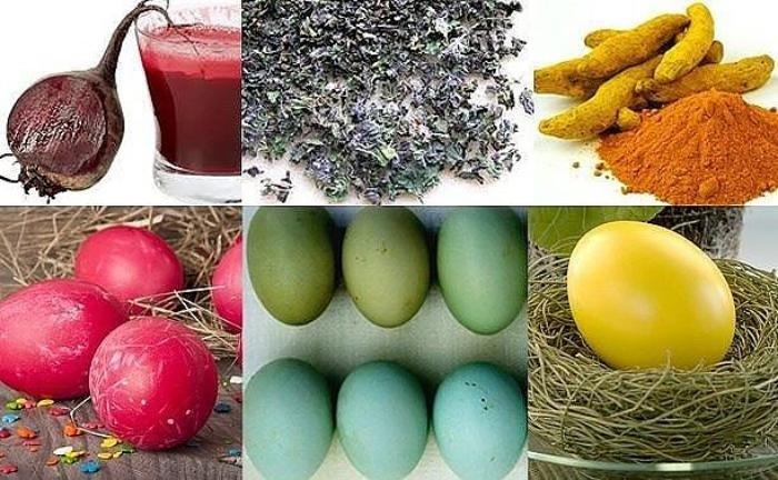 как покрасить яйца чаем