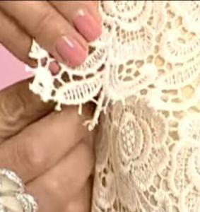 Выкройка кружевного платья с рукавом