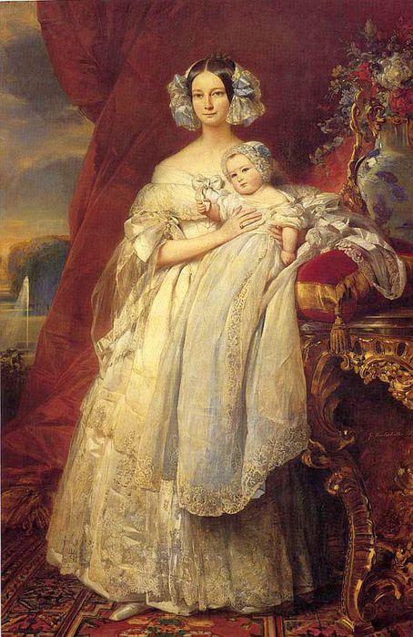 Елена Луиза Елизавета Меклембургская. Автор: Франц Ксавер Винтерхальтер.