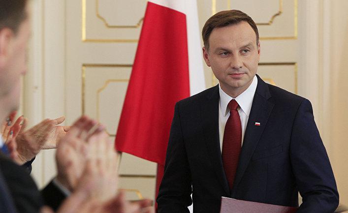 Президент Польши Анджей Дуда…