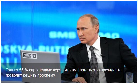 Путин должен отвечать за решение проблем в регионах, – 42 % россиян