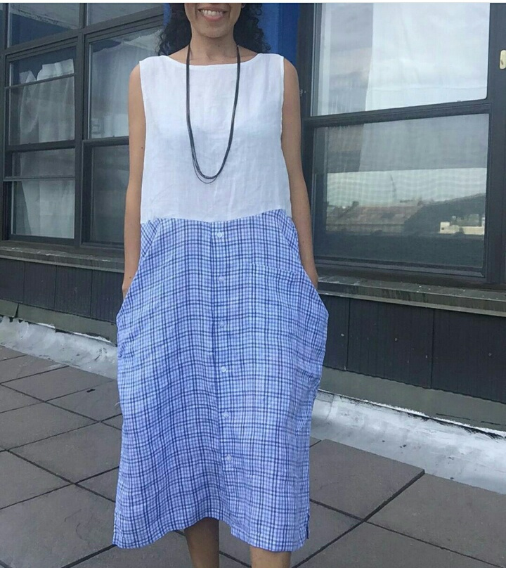 Домашнее платье из рубашек