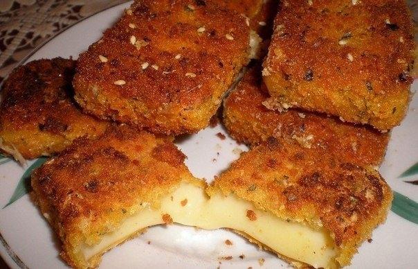 Фото к рецепту: Жаренный сыр