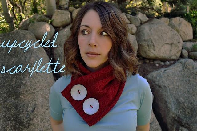 Как сделать модный скарфлет из старого свитера. МК