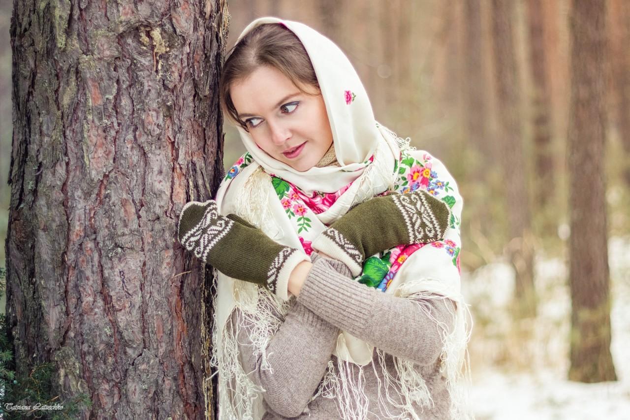 фото в русском платке зимой погиб время тренировки