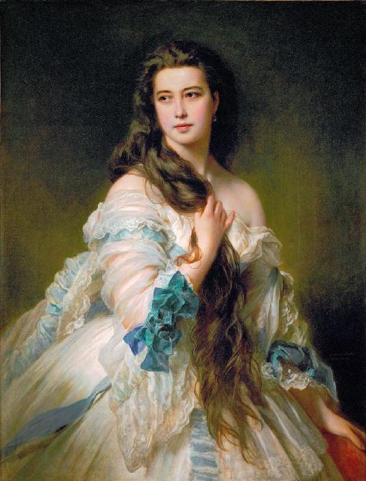 Портрет Варвары Римской-Корсаковой, 1864. Автор: Франц Ксавер Винтерхальтер.