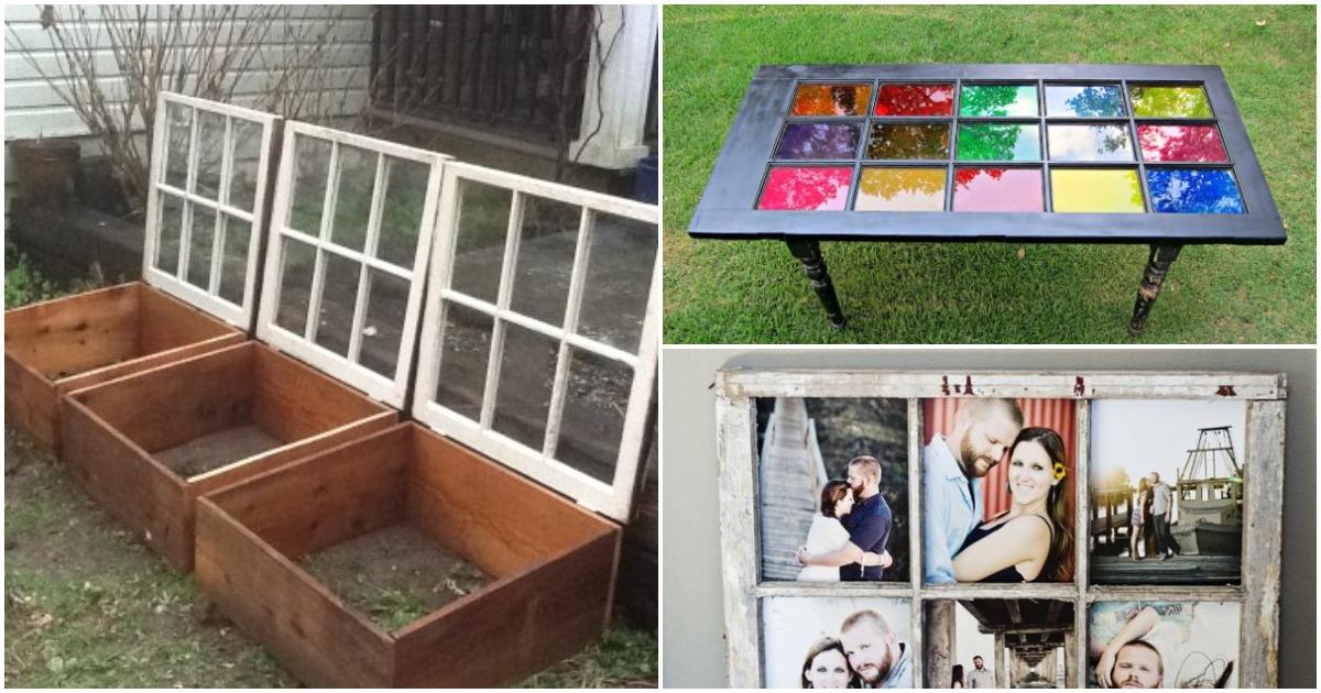Интересные способы использования старых оконных рам: подойдет и для дачи и для дома