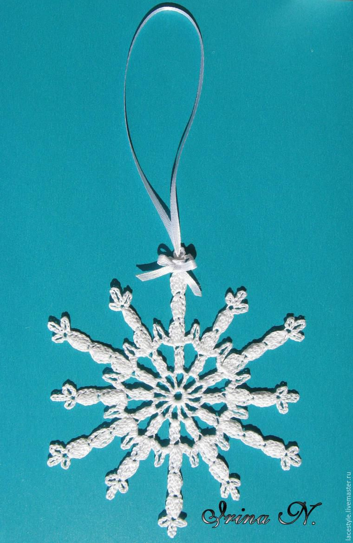 Чудесная снежинка крючком. МК