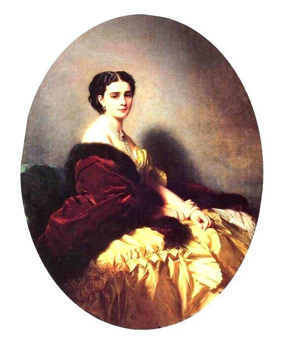 Портрет С.П. Нарышкиной.1858г. Эрмитаж. Автор: Франц Ксавер Винтерхальтер.