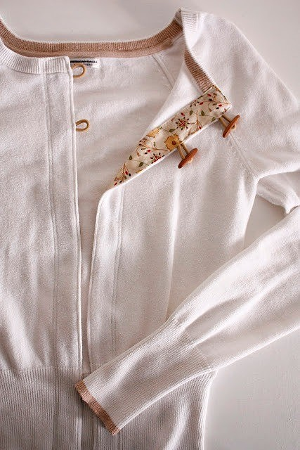 Мастер-класс: переделываем джемпер в кардиган Одежда