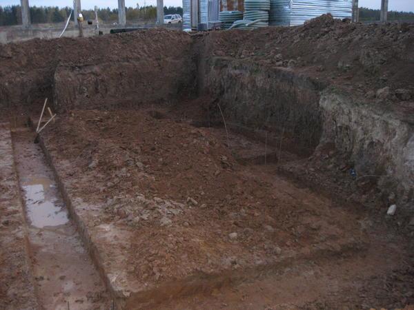 Котлован под плитный фундамент с подвалом