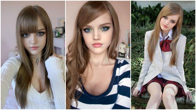 девушка похожа на куколку - 3