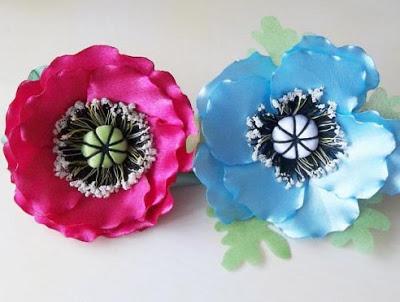 Цветы из лент