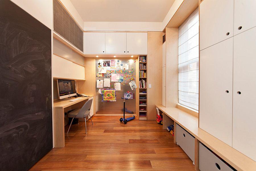 Организация рабочего места дома в узкой комнате