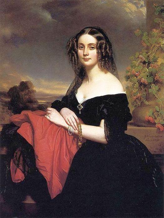 Клэр де Берн, герцогиня Валломброзийская. Автор: Франц Ксавер Винтерхальтер.