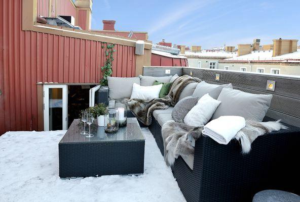 скандинавский дизайн открытых балконов