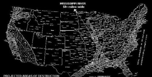 Карта затопления США, сделанная участником Филадельфийского эксперимента, стала вдруг актуальной.