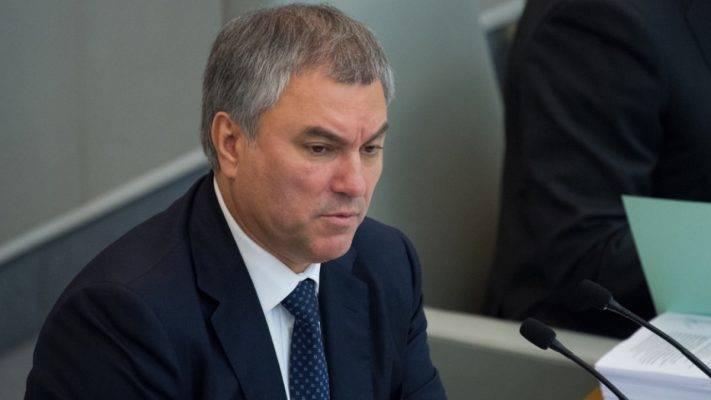 Володин: Россия не будет исп…