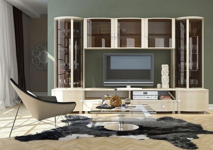 Современная мебельная стенка в гостиную.