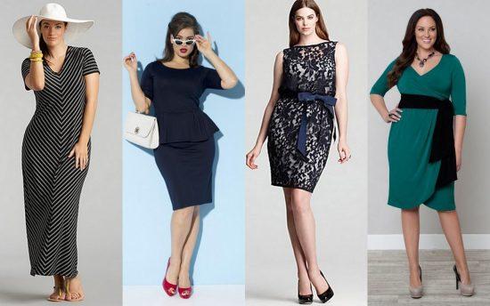 Модные фасоны платьев для полных женщин