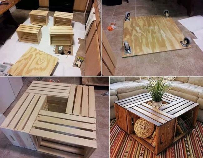Как сделать мебель из подручных материалов своими