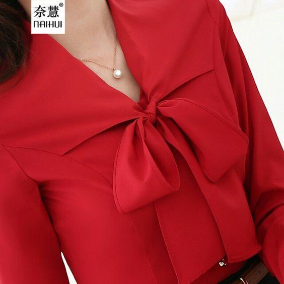 Идеи оригинального оформления верха блузок и платьев 5