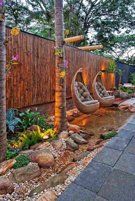 Патио в азиатском стиле.