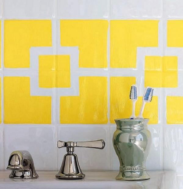 Придать ванной дизайнерский вид можно и без талантов художника
