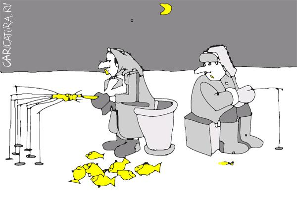 Смешная картинка про зимнюю рыбалку