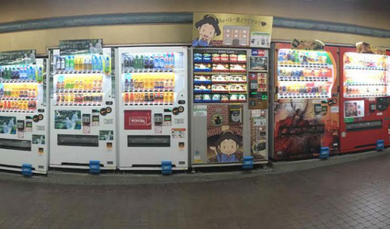 Почему в Японии много торговых автоматов