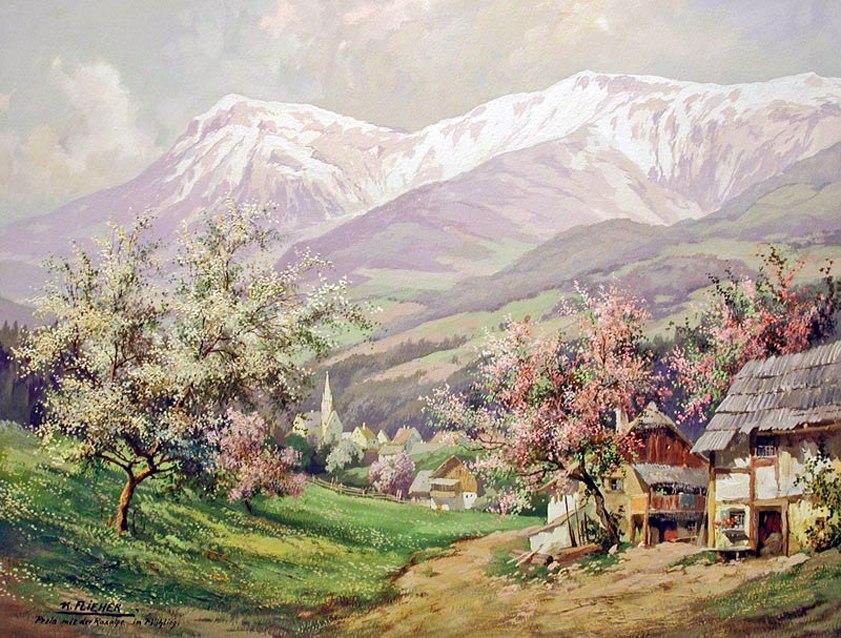 Пейзажи австрийского художника Karl Flieher