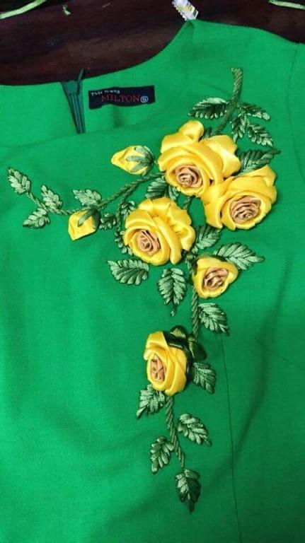 Украшаем одежду вышивкой вышивка