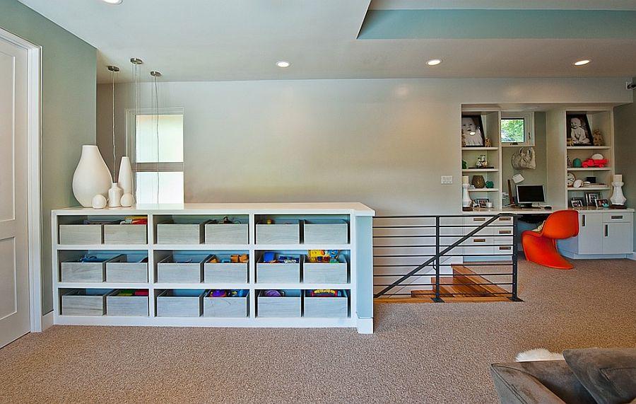 Организация рабочего места дома и системой хранения для игрушек