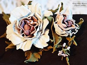 Прекрасная роза из кожи. МК, очень просто!