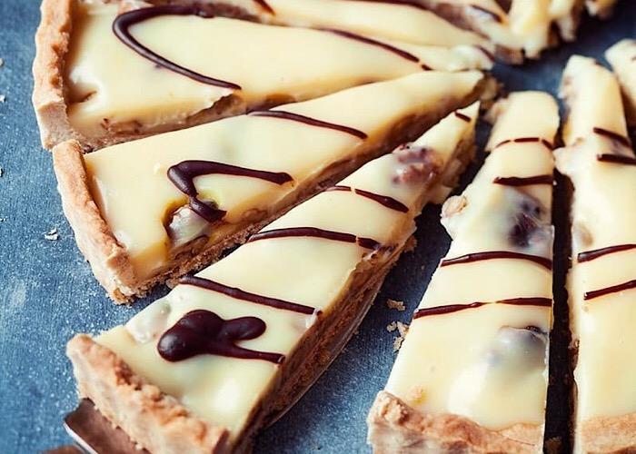 Бесподобный орехово-сливочный тарт с шоколадом