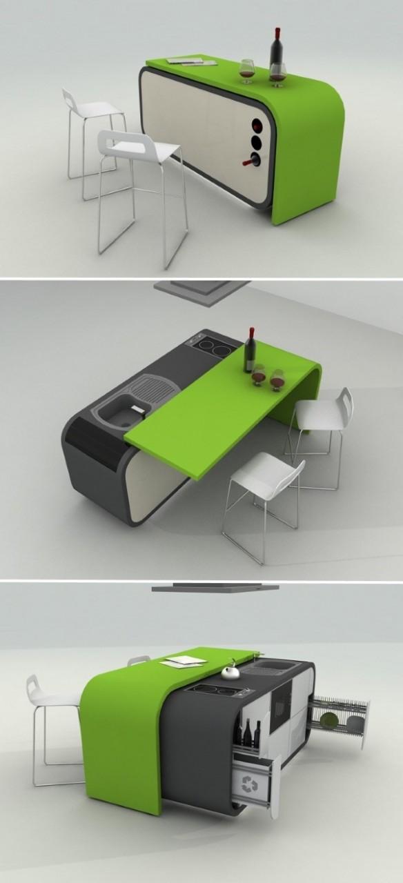 Умная кухонная мебель трансформер