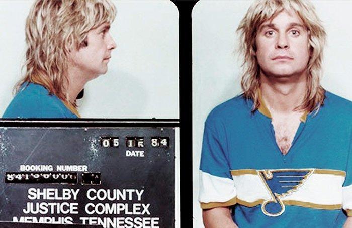 Оззи Озборн. 1984 год. Появление пьяным в общественном месте. арест, звезды, полиция, правонарушение