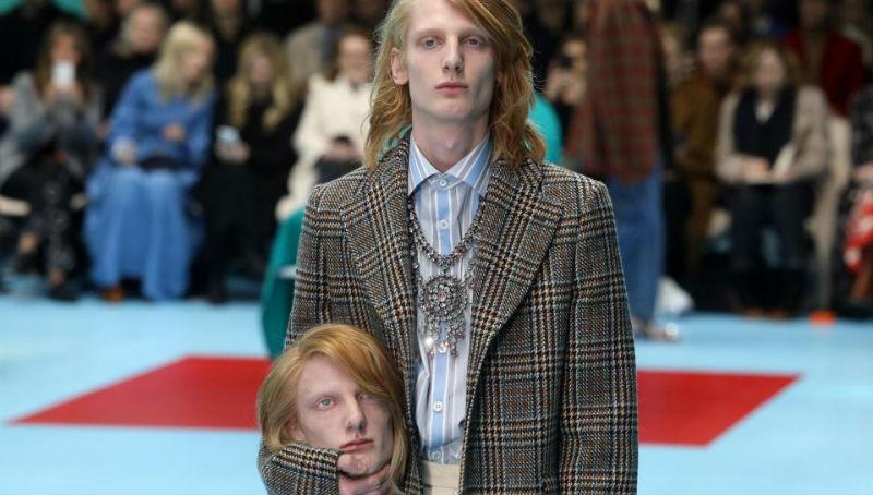 А голову ты дома не забыл? На показе Gucci модели вышли с собственными головами в руках