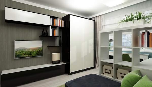 как лучше расставить мебель в однокомнатной квартире, фото 8