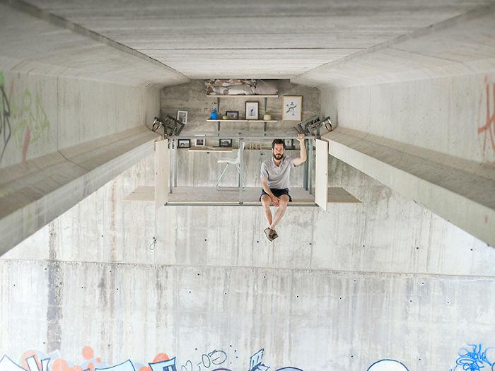 Как с комфортом устроиться под мостом