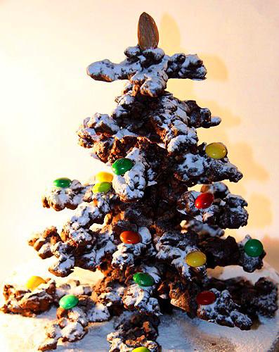 Тема 6. Новогодняя шоколадная елочка , Бисквитное пирожное «Рождественская Елочка», Безе «Ёлочки», Пирожные «Шишки», Ореховое печенье «Снежки», Печенье «Заснеженные вершины», Пирожные «Яичница-глазунья». 2013!