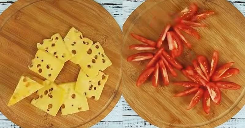кабачки с помидорами и сыром