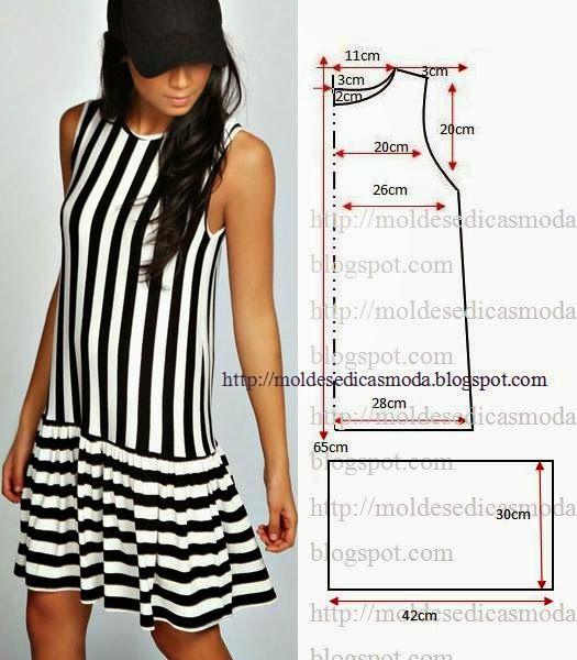 Moldes Moda POR Medida: Платье Facil DE FAZER - 15