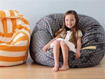 САМОДЕЛКИ. Как сделать бескаркасное кресло-грушу