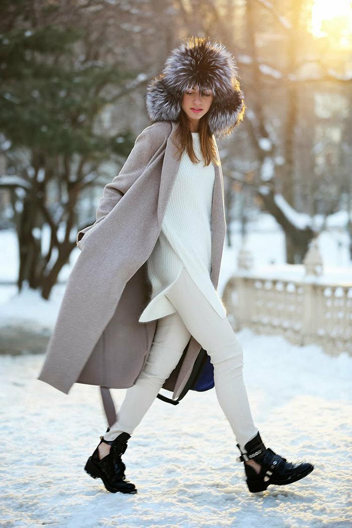 Холод красоте не помеха: 7 ярких образов с ушанкой